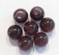 10 Stuks Glaskraal rond cate-eye paars 8 mm.