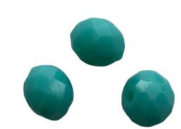 10 x Briolette top facet kristal kralen 6x4 mm gat 1 mm zee groen