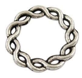 5 x gesloten tussenzetsel ring 20,5 x 2mm gat: 13mm zilver