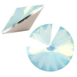 1x BQ quality 1122- Rivoli puntsteen12 mm Light blue turquoise opal ca. 12 mm (1122)