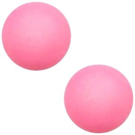 1x Cabochon Polaris Elements matt 7mm Soft rose pink