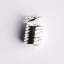 10 stuks metalen veer veterklemmen 9x 5mm Gat: 3,5mm