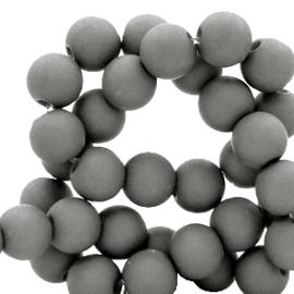 30 x 6 mm acryl kralen matt Quiet shade grey