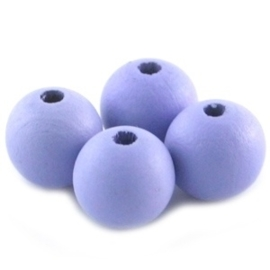 10 x Houten Kralen Rond 12mm Zacht Lila Lavendel Paars