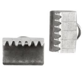 5 x DQ metaal lintklem 10mm Antiek zilver