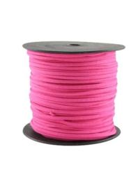 Faux suède veter,  hot pink 1 meter x 3mm