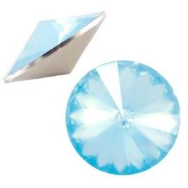 1x BQ quality 1122- Rivoli puntsteen12 mm Light blue pacific opal ca. 12 mm (1122)