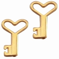 4 x  goudkleurige DQ kwaliteit Dreamz bedel sleutel 14 mm