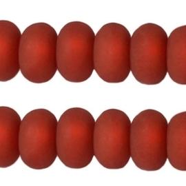 10 stuks Polaris kralen matt disc 6 mm Red magma