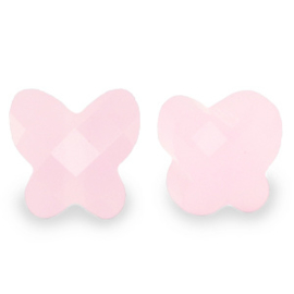 1 x Fashion Facet kralen vlinder Pink alabaster 10mm gat: 1,2mm