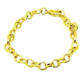 Prachtige basis armband om bedels aan te bevestigen 21cm, schakel is 4x7mm goud kleur