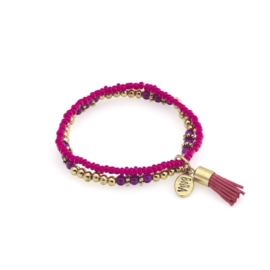 Prachtige Biba armband multicolour