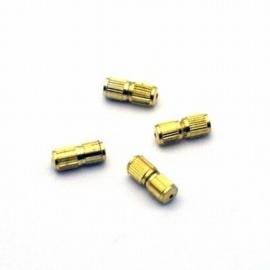10 stuks schroefsluiting verguld 4 x 9 mm gat: 2mm