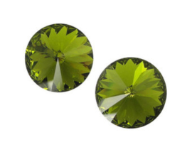 10 x Swarovski flatback  strass steentje 6mm mos groen