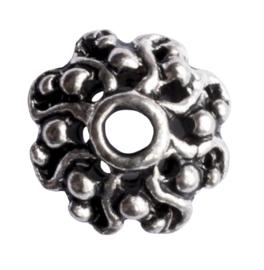 10 x metalen kralenkapje zilver kleur 10 x 3,5mm gat: 1,5mm