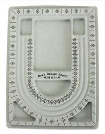Kralenbord rijgbord legbord grijs A4