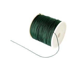 1 rol 90 meter gevlochten nylon koord, imitatie zijden draad 0,8mm dark green