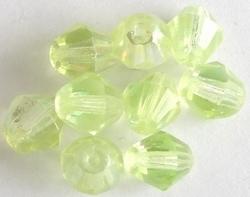 10 Stuks Facet kristal konisch geel AB 8 mm