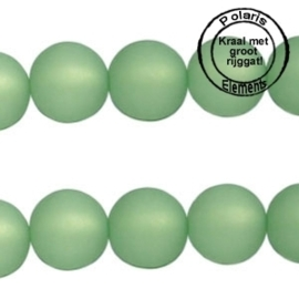 5 x  Polaris kralen matt rond 10 mm groot gat Crysolite green