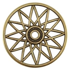 DQ metalen dreamcatcher hanger Antiek brons (nikkelvrij)