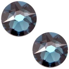 2 x Swarovski Elements 2088-SS34 flatback Xirius Rose Montana blue ca 7 mm (SS34)