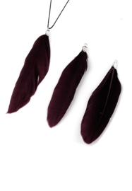 3 x Hangers veer 70-80x12-20mm donker bordeaux rood
