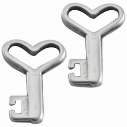 2 x antiek zilveren DQ kwaliteit Dreamz bedel sleutel 14 mm