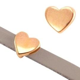 1x DQ metaal schuiver hart Rosé goud Ø5.2x2.2mm