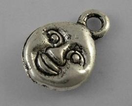 10 stuks Tibetaans zilveren grappige kleine bedeltjes 8 x 11mm gat: 2mm
