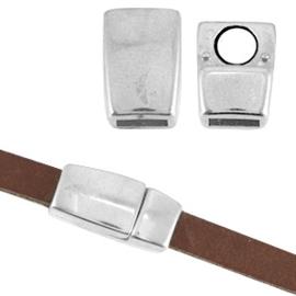 1 x DQ metaal magneetslot Ø5.1x2.2mm Antiek zilver