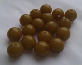 10 Stuks acryl pastel 12 mm Pastel olijfgroen