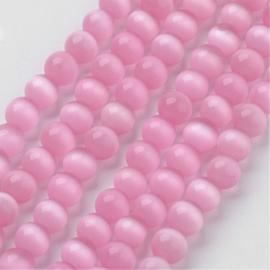 10 stuks prachtige cateye kraal 10mm roze