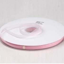 1 meter Organza lint 10mm breed per meter, leuk voor zeepkettingen!! Zacht roze