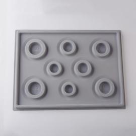 Kralenbord rijgbord legbord voor armbanden grijs 26 x 34,5 cm