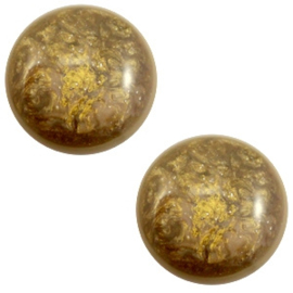 1 x 12 mm classic cabochon Polaris Elements Stardust Warm taupe brown