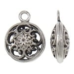 2x 3D Tibetaans zilveren hanger erg mooi! Bali style 16 x 21 x 18mm Gat: 2,5mm