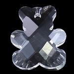 Prachtige facet kristal hanger beer 15 x 18 x 6mm gat 1mm