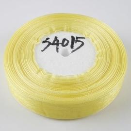 1 meter Prachtig Satijn lint 20mm zacht geel