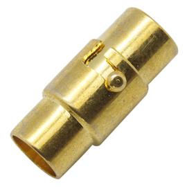 1 x draai magneetsluiting goud kleur  15 x 4mm Ø 3mm