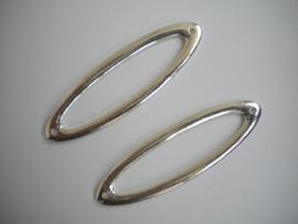 Metalen tussenzetsel 70mm per stuk zilverkleur
