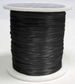1 rol platte elastiek 0,8mm zwart c.a. 10 meter