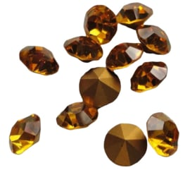 10 x Swarovski puntsteen SS24 Gold Foiled Topaz  5,2mm