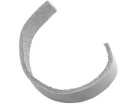 1 meter DQ imitatie leer light grey (losse meters)  3 x 1,5mm