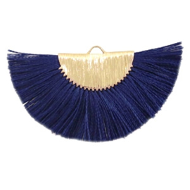 Kwastjes hanger Gold-dark midnight blue