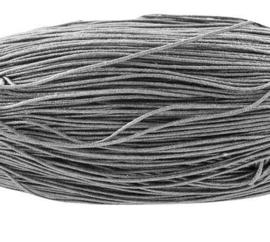 Waxkoord 10 meter 1mm donker grijs structuur A