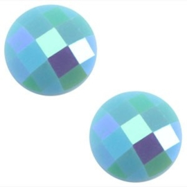 2 x Basic cabochon 10mm Licht blauw diamond