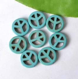 1 x  howlite turquoise peace kraal 25mm x 4mm