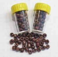 4 x Mini-buisje rocailles Donkerbruin 4,5mm 4,5 mm