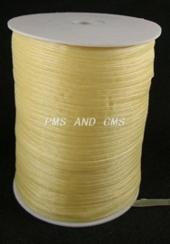 1 meter organza lint 6mm cream