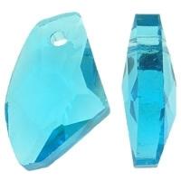 Prachtige kristal facet AB Hanger 11 x 18 x 6mm gat 1,5mm